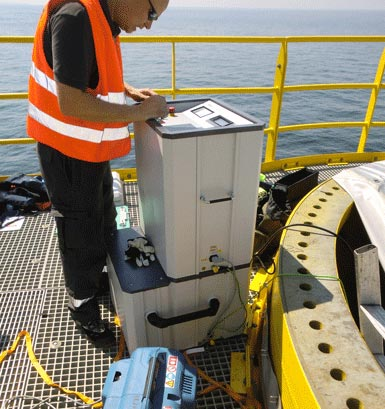 Off shore cable fault finding and diagnosis